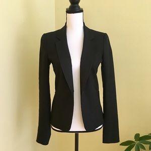 JOSEPH black structured linen blazer